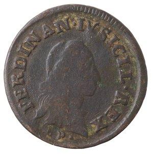 obverse: Zecche Italiane. Napoli. Ferdinando IV. 9 Cavalli 1789. Ae. MB.
