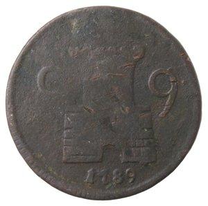 reverse: Zecche Italiane. Napoli. Ferdinando IV. 9 Cavalli 1789. Ae. MB.