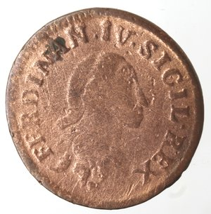 obverse: Zecche Italiane. Napoli. Ferdinando IV. 9 Cavalli 1792. Ae. qMB. Pulita. NC.