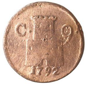 reverse: Zecche Italiane. Napoli. Ferdinando IV. 9 Cavalli 1792. Ae. qMB. Pulita. NC.