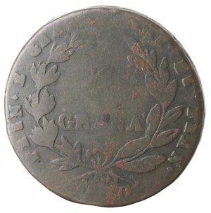 reverse: Zecche Italiane. Napoli. Murat. 3 Grana 1810. Ae. qMB.