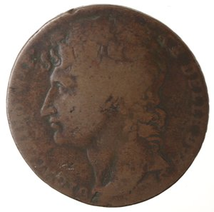 obverse: Zecche Italiane. Napoli. Murat. 3 Grana 1810. Ae. MB.