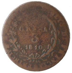 reverse: Zecche Italiane. Napoli. Murat. 3 Grana 1810. Ae. MB.