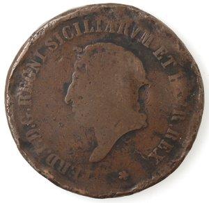 obverse: Zecche Italiane. Napoli. Ferdinando I. 10 Tornesi 1819. Ae. B.