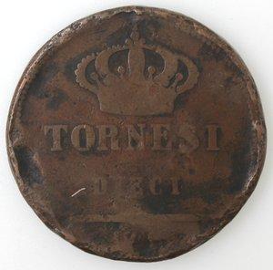 reverse: Zecche Italiane. Napoli. Ferdinando I. 10 Tornesi 1819. Ae. B.