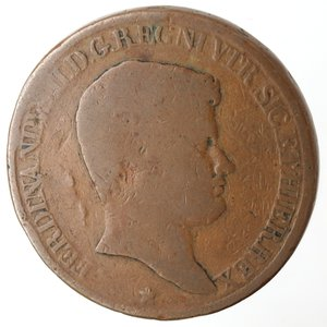 obverse: Zecche Italiane. Napoli. Ferdinando II. 10 Tornesi 1831. Ae. MB. R.