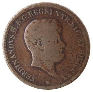obverse: Zecche Italiane. Napoli. Ferdinando II. 5 Tornesi 1849. Ae. MB. Graffi. NC.