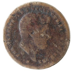 obverse: Zecche Italiane. Napoli. Ferdinando II. 2 Tornesi 1849. Ae. B. NC.