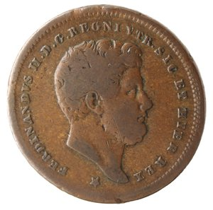 obverse: Zecche Italiane. Napoli. Ferdinando II. 2 Tornesi 1852. Ae. MB.