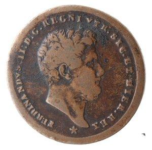 obverse: Zecche Italiane. Napoli. Ferdinando II. 2 Tornesi 1858. Ae. MB+.