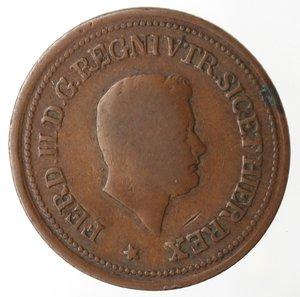 obverse: Zecche Italiane. Napoli. Ferdinando II. 1 Tornese e mezzo 1854. Ae. MB+.