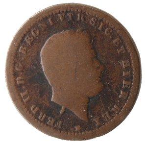 obverse: Zecche Italiane. Napoli. Ferdinando II. Tornese 1851. Ae. qMB.