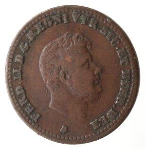 obverse: Zecche Italiane. Napoli. Ferdinando II. Mezzo Tornese 1849. Ae. MB. Graffi al rovescio. R.