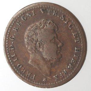 obverse: Zecche Italiane. Napoli. Ferdinando II. Mezzo Tornese 1853. Ae. MB+.