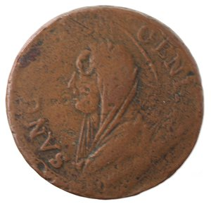 obverse: Zecche Italiane. Perugia. Pio VI. Madonnina da 5 baiocchi. Ae. qMB.