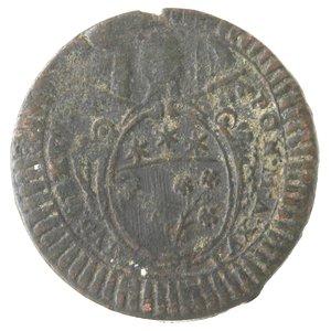 obverse: Zecche Italiane. Roma. Pio VI. Mezzo Baiocco Romano A. XVI. Ae. qMB.