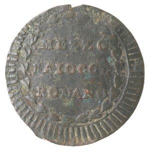reverse: Zecche Italiane. Roma. Pio VI. Mezzo Baiocco Romano A. XVI. Ae. qMB.