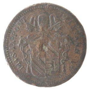 obverse: Zecche Italiane. Roma. Pio IX. Mezzo Baiocco 1850 ANN V. Ae. qMB.