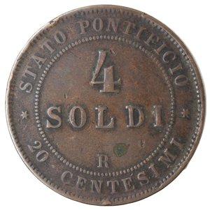 reverse: Zecche Italiane. Roma. Pio IX. 4 Soldi 1868 An XXII. Ae. qMB.