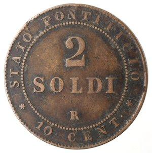 reverse: Zecche Italiane. Roma. Pio IX. 2 Soldi 1867 An XXI. Ae. qMB.