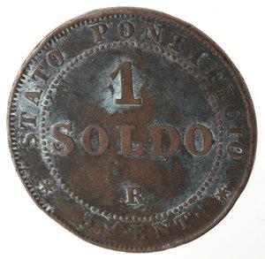 reverse: Zecche Italiane. Roma. Pio IX. Soldo 1866 An XXI. Ae. qMB.