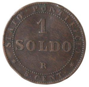 reverse: Zecche Italiane. Roma. Pio IX. Soldo 1867 An XXI. Ae. MB.
