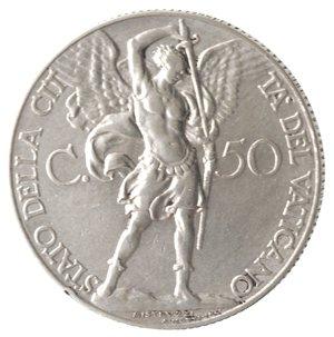 reverse: Zecche Italiane. Roma. Pio XI. 50 Centesimi 1931. Ni. SPL.