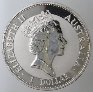 obverse: Monete Estere. Australia. Dollaro 1992 Kokaburra. Ag 999. qFDC.