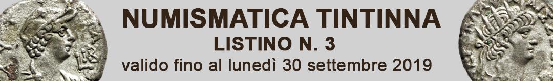 Banner Tintinna listino di vendita n. 3