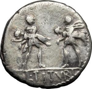 L. Titurius L. f. Sabinus.. AR Denarius, 89 BC