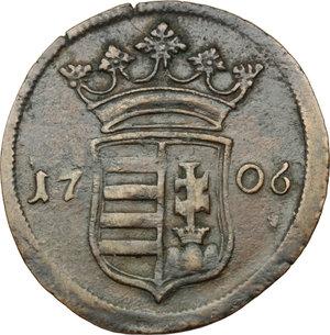Hungary.  Franz II Rákóczi (1703-1711).. AE Poltura 1706