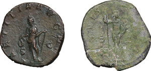 reverse: Roman Empire. Gordian III (238-244).. Multiple lot oftwo (2) unclassified AE Sestertii, c. 241-244