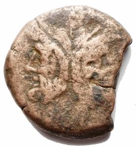 obverse: Varie - Repubblica Romana.Caecilius Metellus 194-190 ac. Æ As gr 27,2. d/ Giano r/ Prua a ds. Sopra ME. Al centro contromarca