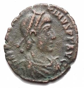 obverse: Varie - Magno Massimo. Ae da catalogare. gr 0,94. mm 12,4 x 13,3