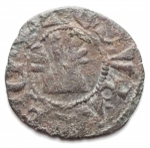 obverse: Varie - Athens. Crusader coins. Guillaume de la Roche (1280-1287). Obol, perhaps minted during the Minority of Gui II. D/ G.DVX.ATENES. Large fleud-de-lis. R/ THEBE CIVIS. Genoese gateway, pellet in center. Malloy 82. Schl. XIII, 32. De Saulcy Tav. XVII, 14. MI. g. 0.48 mm. 14.00 RRR. VF+.