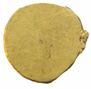 reverse: Mondo Greco. Etruria.Populonia. 10 assi, c. 211-206 a.C. D/ Testa maschile destra. Sotto, segno del valore X). R/ Liscio. Vecchi 29\12. AU. g. 0,54 mm. 8.00 R. SPL+. Raro e di grande qualità. Ex CNG 84 lotto 21 del 5\5\2010 Questa serie etrusca in oro, emessa negli anni della seconda guerra punica, presenta segni di valore che si riferiscono all asse di bronzo introdotto sullo standard di quello romano sestantale circa nel 211 a.C.