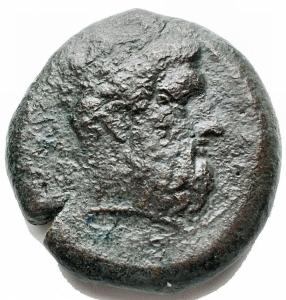 obverse: Mondo Greco -Sicilia.Siracusa.Emidracma, 405 a.C.D/ Testa di Zeus a destra.R/ Fulmine. A destra, aquila.Cfr. SNG ANS 477.gr. 14,6.AE. MB-qBB.