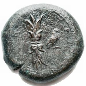 reverse: Mondo Greco -Sicilia.Siracusa.Emidracma, 405 a.C.D/ Testa di Zeus a destra.R/ Fulmine. A destra, aquila.Cfr. SNG ANS 477.gr. 14,6.AE. MB-qBB.