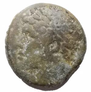 obverse: Mondo Greco -Sicilia.Siracusa.Gerone II (274-216 a.C.).AE 26 x 26,9 mm.D/ Testa diademata di Gerone a sinistra.R/ Cavaliere con lancia su cavallo impennato a destra.g 17,8. MB+