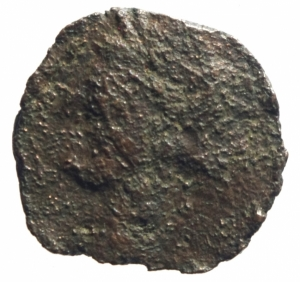 obverse: Mondo Greco. Sardo Punica. 264-261 a.C.Ae.D/ Testa di Kore verso sinistra. R/ Cavallino con testa retrospicente, dietro una palma. Peso 4,76 g. Diametro 20,40 mm.MB.