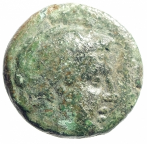 obverse: Mondo Greco. Macedonia. Filippo V. 221-179 a.C. AE. D/ Testa di Eracle a destra. R/ Due capre appaiate in corona d  alloro. Peso 9,00 gr. Diametro 22,00 mm. BB.