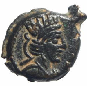 obverse: Mondo Greco.I Parti. Vologases IV 147-191 d.C. Æ dichalkous Seleucia sul Tigris .S84.144-153var. or S84.155-160var.Peso 3,75 gr.Diametro 18, 00.BB+