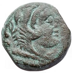 obverse: Repubblica Romana - Quadrante anonimo (serie uccello su timone). 206-195 a.C. g 5,4. mm 17,8. BB+. Patina verde marrone. Rarissimo