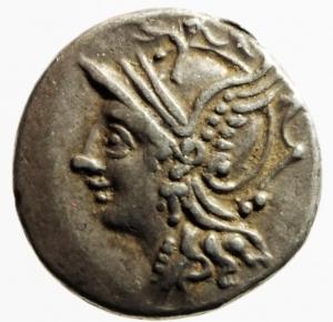 obverse: Repubblica Romana. Gens Coelia. Caius Coilius Caldus. 104 a.C. Denario. Ag. D/ Testa di Roma verso sinistra. R/ C. COIL. CALD. (Caius Coilius Caldus). Vittoria su biga verso sinistra. Cr. Cr.318/1a. Peso 3,97 gr. Diametro 18,79 mm. BB+.