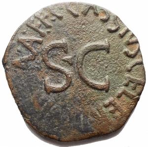 obverse: Impero Romano -Augusto 27ac-14dc. C. Cassius Celer monetiere. Roma. Asse Ae.26,5mm; 9,03g. MB-BB
