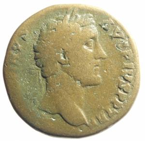 obverse: Impero Romano.Antonino Pio Sesterzio da classificare.MB+.po