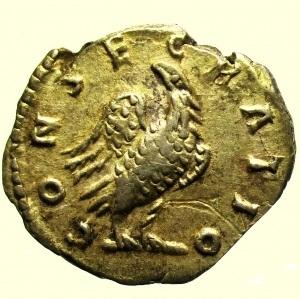 reverse: Impero Romano. Lucio Vero. 161-169 d.C. Denario : D\ DIVVS VERVS Testa verso destra R\ CONSE-CRATIO. Aquila stante a sinistra RIC 596a Peso 2,8 gr Diametro 18,7 mm BB+