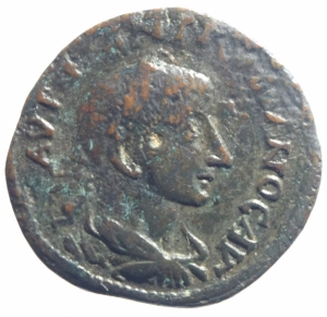 obverse: Provincia Romana Adrianopolis. Tracia. Gordiano III. 238-244 d.C. D/ YT K M ANT γορδιανοC AVγ. Busto laureato a destra. R\ AδPIANOπOλETωN Peso 10,00 gr. Diametro 26 mm. BB.