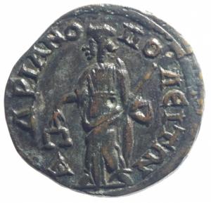 reverse: Provincia Romana Adrianopolis. Tracia. Gordiano III. 238-244 d.C. D/ YT K M ANT γορδιανοC AVγ. Busto laureato a destra. R\ AδPIANOπOλETωN Peso 10,00 gr. Diametro 26 mm. BB.