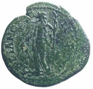reverse: Provincia Romana Adrianopolis. Tracia. Gordiano III. 238-244 d.C. D/ YT K M ANT γορδιανοC AVγ. Busto laureato a destra. R\ AδPIANOπOλETωN Peso 8,95 gr. Diametro 26 mm. BB+.